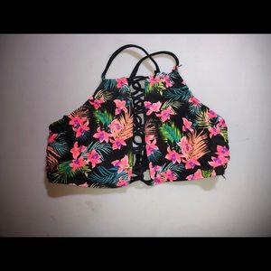 Floral Full Coverage Bikini Top